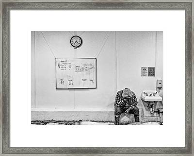 Framed Print featuring the photograph Hard Day by Rob Tullis