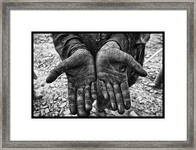 Hard Days Work Framed Print by David Longstreath