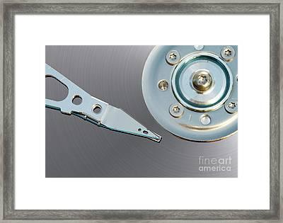 Hard Disc Framed Print