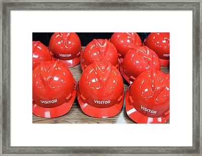 Hard Hats For Visitors Framed Print