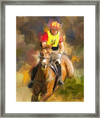 Framed Print featuring the painting Hard Left by Joan Davis
