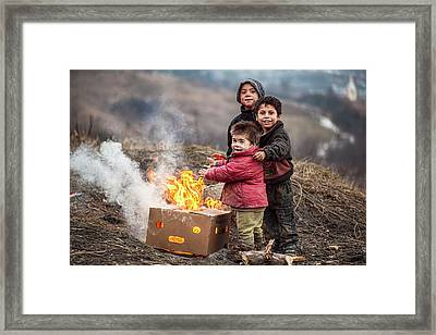 Hard Life But Smile On Their Faces! Framed Print