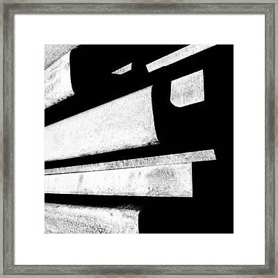 Hard Lines - Modern Abstracts Framed Print by Steven Milner