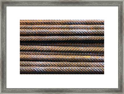 Hard Metal Rebar Pattern Framed Print