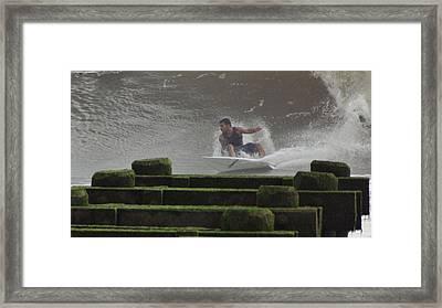 Hard Right Framed Print