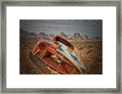 Hard Right Framed Print