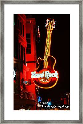 Framed Print featuring the photograph Hard Rock Cafe' by Al Fritz