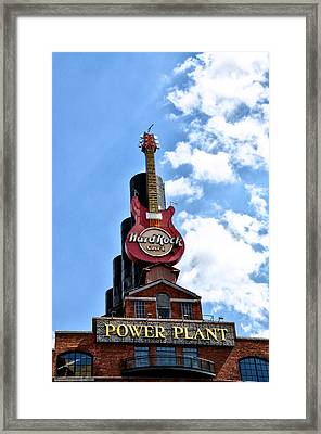 Hard Rock Cafe - Baltimore Framed Print by Bill Cannon