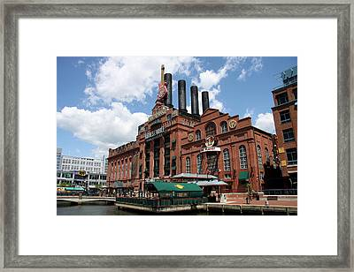 Hard Rock Cafe Baltimore Inner Harbor Framed Print by Christiane Schulze Art And Photography