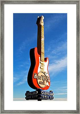 Hard Rock Cafe Cleveland Framed Print by Frozen in Time Fine Art Photography