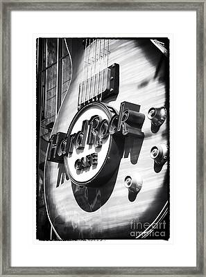 Hard Rock Cafe Framed Print by John Rizzuto
