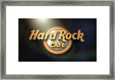 Hard Rock Cafe Logo Framed Print