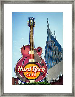 Framed Print featuring the photograph Hard Rock Cafe Nashville by Sophie Doell