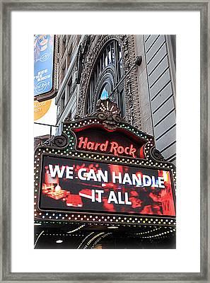 Hard Rock Cafe New York Framed Print by Valentino Visentini