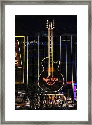 Hard Rock Cafe Framed Print by Peter Dang