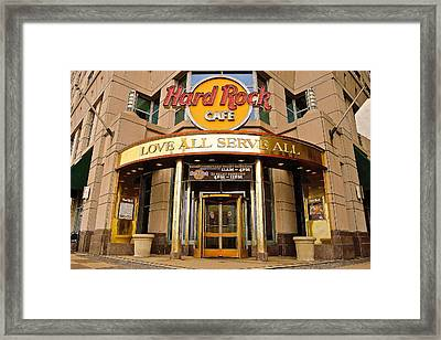 Hard Rock Cafe Framed Print by Frozen in Time Fine Art Photography