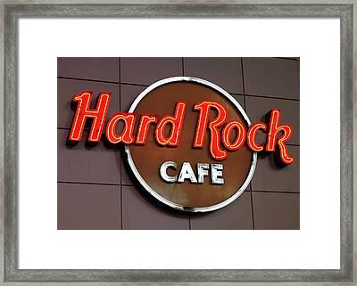 Hard Rock Cafe Sign Framed Print