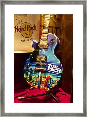 Hard Rock Electric Guitar Framed Print