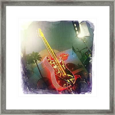 Hard Rock Guitar 2 Framed Print by Nina Prommer