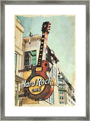 Hard Rock Guitar Framed Print