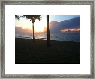 Hard Sunrise Framed Print