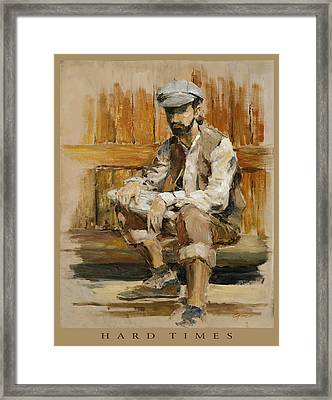 Hard Times Framed Print by Gini Heywood