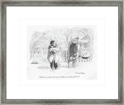 Hard To Realize That No Two ?akes Are Alike Framed Print