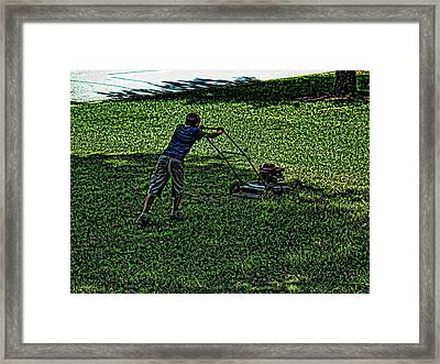 Hard Work Framed Print by Robert Rhoads