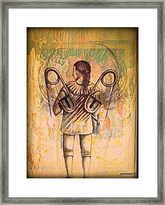 Hard Work To Overcome Our Difficulties Framed Print by Paulo Zerbato