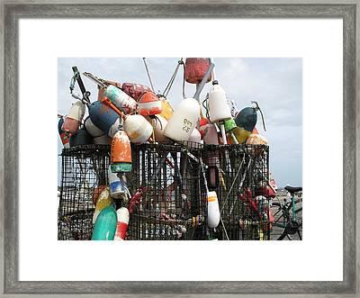 Hard Working Buoys Framed Print