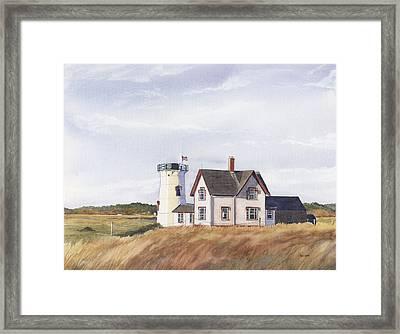 Harding's Beach Light Framed Print by Heidi Gallo
