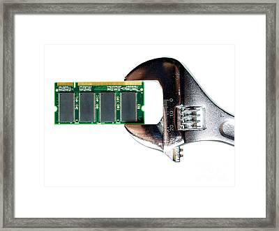 Hardware Repair Framed Print by Sinisa Botas