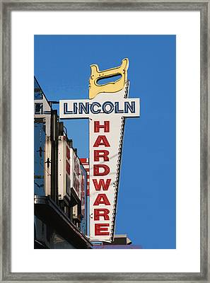 Hardware Sign Framed Print by Art Block Collections