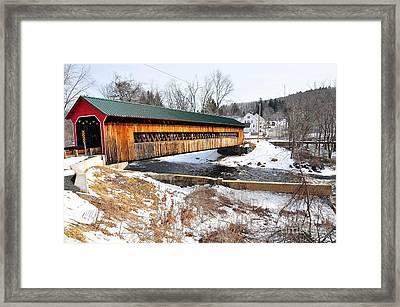 Hardwick Covered Bridge  Framed Print by Catherine Reusch Daley