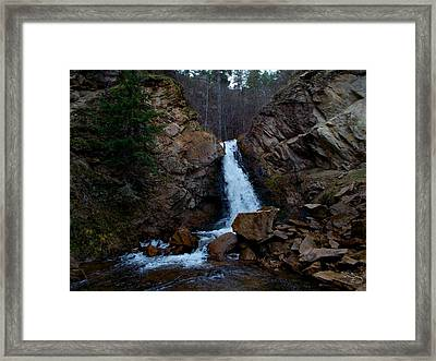 Hardy Falls Peachland Bc Framed Print by Guy Hoffman