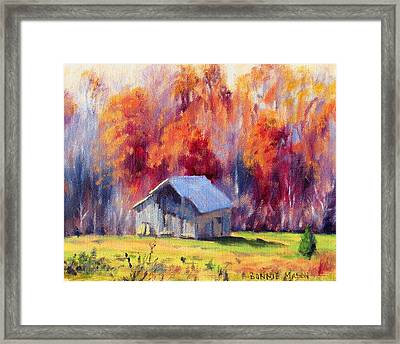 Hardy Road Barn- In Autumn Framed Print