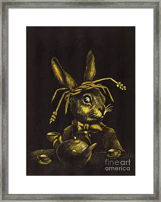 Hare Framed Print by Suzette Broad