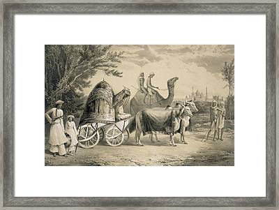 Harem Carriage Of The King Of Delhi Framed Print by A. Soltykoff