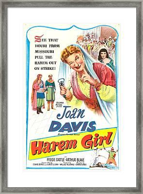 Harem Girl, Us Poster, Joan Davis Framed Print