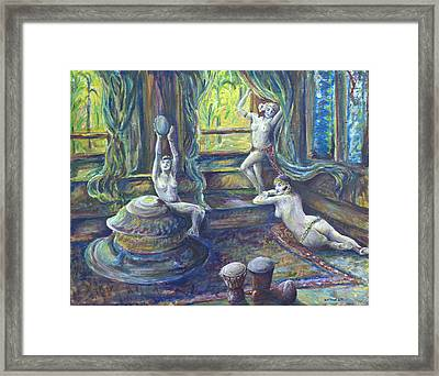 Harem Room Framed Print by Nick Vogel