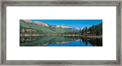 Hariland Lake & Hermosa Cliffs Durango Framed Print by Panoramic Images