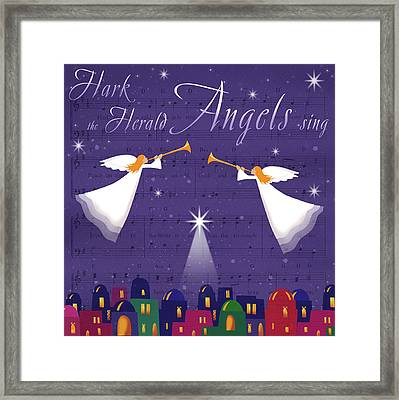 Hark The Herald Angles Framed Print by P.s. Art Studios