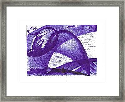 Hark The Mythical Flying Cat For A Reed Elf Soars On Christmas Night Framed Print by Rich Graham