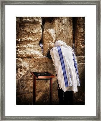 Harken Unto My Prayer O Lord Western Wall Jerusalem Framed Print
