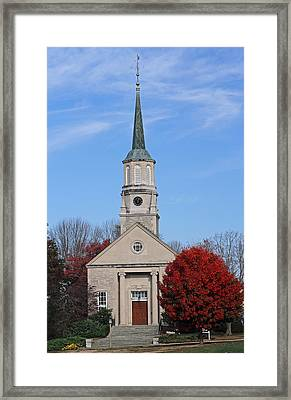 Harkness Chapel At Connecticut College Framed Print