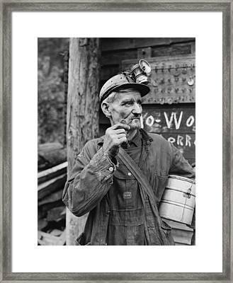 Harlan County Kentucky Coal Miner 1946 Framed Print by Mountain Dreams