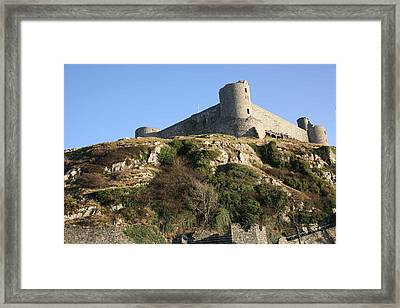 Framed Print featuring the photograph Harlech Castle by Christopher Rowlands