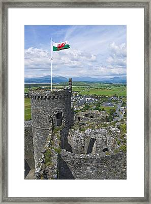 Harlech Castle Tower Framed Print by Jane McIlroy