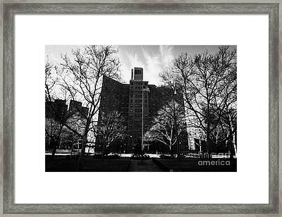 Harlem Brownstone High Rise Apartment Blocks Projects Post World War 2 New York City Framed Print