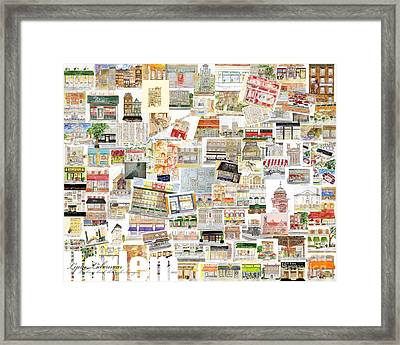 Harlem Collage Of Old And New Framed Print